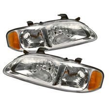 Headlights Headlamps Left & Right Pair Set for 00-03 Nissan Sentra
