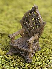 NEW MINI FAIRY GARDEN BENCH/ MINIATURE GARDEN / FIDDLEHEAD FAIRY THRONE
