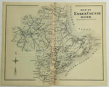 1888 Engraving Map Of Essex County Massachusetts Genealogy History