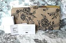 100% Authentic JIMMY CHOO Camille Lace & Leather Patent Clutch Gold HW ON SALE!!