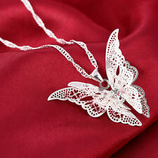 Delicate Luxury Silver Plated Lovely Butterfly Pendant Necklace Fashion Jewerly