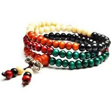 Jewellery Buddhist Wood Wooden Prayer Beads Necklace Bracelet Silver Vajra