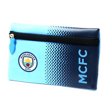 MANCHESTER CITY FC FADE SCHOOL PENCIL CASE COVER FLAT NEOPRENE NEW GIFT XMAS