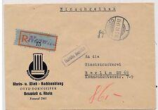 """14.5.1947 - bonito reco-carta """"tasa pagado"""" 84 PF. de Neuwied a Berlín"""