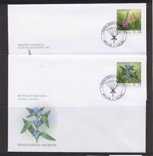 Latvia 2004 Protected Flowers 2v FDC's (2) ref:n12099