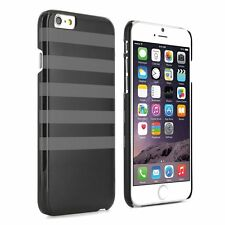 "Proporta Breton Style Hard Shell for Apple iPhone 6 4.7"" - Black w. Grey stripe"
