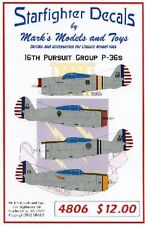 STARFIGHTER DECALS 1/48 P36s 16th Pursuit Group SFA4806