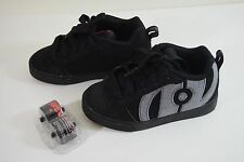 New Kids Size Black/Gray Boys Skate Sneakers Heelys Shoes 1 Youth USA