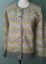 Vtg 60s Handknit Norwegian Wool Cardigan Sweater One of a Kind Button Front