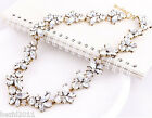 Crystal Jewelry Bubble Flower Necklace Choker Bib Statement Chunky Collar Chain