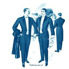 Croonborg tailoring 1907 men's formal wear tailored suits tuxedo patterns on CD