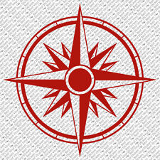 TRIBAL COMPASS ROSE NAUTICAL STAR CAR BOAT BIKE WINDOW VINYL DECAL STICKER (C-2)