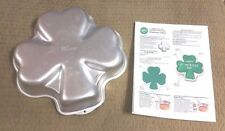 Wilton SHAMROCK Cake Pan Mold Tin 2105-185 St. Patrick's Day CLOVER Instructions