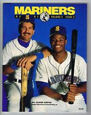 1990 Seattle Mariners MLB Baseball Magazine Volume 2 #3 Program