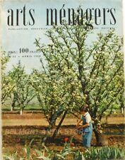 Arts ménagers n°52- 1954 - Tricots - Mode - Recettes - Les Plastiques - Montagne