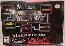 Williams ARCADE'S GREATEST HITS (Super Nintendo System) NEW! Factory Sealed MINT
