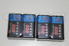 4 PILES ACCUS RECHARGEABLE 9V Ni-Mh 600mAh 6LR61 6F22 BATTERIES FRANCE POWER