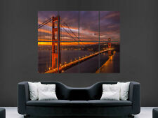 SAN FRANCISCO GOLDEN GATE BRIDGE USA ARTE enorme gigante grande poster stampa