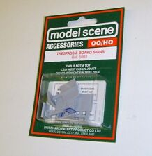 Modelscene Accessories 5093 - Trespass & Board Signs (00) - Railway Models