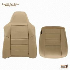 2002 To 2007 Ford F-250 F350 Driver Bottom-Top Lean Back Leather Seat Cover Tan