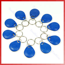 10 Pcs RFID 125kHz Proximity ID Token Tag Key Keyfobs with Key Ring New