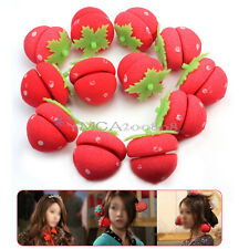 12pcs Foam Strawberry Balls Soft Sponge Hair Curlers Rollers Bun Round Tool New