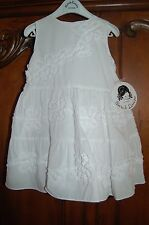 New Sarah Louise Baby Girls White Party Girl Dress Size 18mo