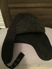 Oakley Nome Dome Military Aviator Bomber Hunting Hat Black RARE EUC Must See
