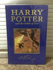 HARRY POTTER AND THE GOBLET OF FIRE UK FIRST EDITION DELUXE BOOK. Bloomsbury.