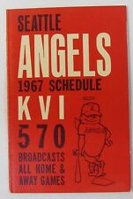 1967 SEATTLE ANGELS PCL Pacific Coast League baseball pocket sked schedule
