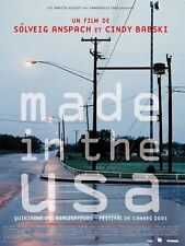 Affiche 120x160cm MADE IN THE USA (2001) Solveig Anspach - Documentaire TBE