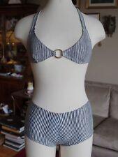 BNWT New sz XS striped Tory Burch two piece bikini swimsuit, $190