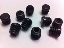 50 Black Plastic Blanking End Cap Caps Round Tube Pipe Insert 12.7mm / 1/2""