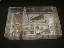 CLEAR CABOODLES Acrylic Cosmetic Organizer Makeup Case holder VANITY COUNTERTOP