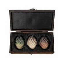 Game of Thrones Dragon Eggs 3 Piece Collectible Replica in Satin Lined Wood Box