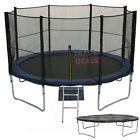 XL 10FT Trampoline With FREE Safety Net Enclosure, Ladder, Rain Cover + Shoe Bag