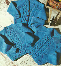 BABY CHUNKY KNIT SWEATER CARDIGAN & JACKET KNITTING PATTERN          ( 457)