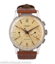 Universal Genève UNI-COMPAX 32416-CAL. 285 | Acciaio Oversize Vintage Orologio