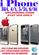 AT&T USA for iPhone4 4S 5 5C 5S 6 6+ UNLOCK CODE