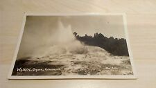 Waikiti, Geyser, Rotorua, New Zealand, Real Photo Postcard Vintage