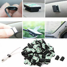 30Pcs Prcatical Car Wire Cable Holder Tie Clips Organizer Adhesive Clamps Black