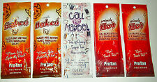 Sample Packets Pro Tan Seriously hot Totally baked call me maybe tanning lotion