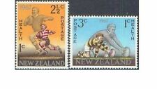 New Zealand 1967 HEALTH, FOOTBALL Set (2) Unhinged Mint SG 867-8