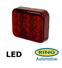 Ring 12v 'E' Approved Red LED Rear Towing Trailer Board Caravan Fog Lamp RCT495