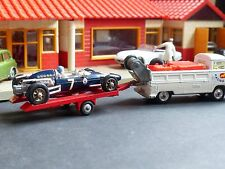 Corgi Toys Gift Set 6 VW Breakdown Truck and Racing Car on trailer