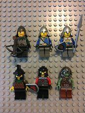 LEGO Castle Knights Troll Warrior Minifigure Lot of 6