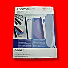 BOX 25X GBC THERMABIND A4 9MM THERMAL BINDING CLEAR COVERS BLUE CARD BACK