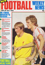 SOUTHAMPTON / LIVERPOOL / BOLTON WANDERERS  Football Weekly 26 Sep 1979