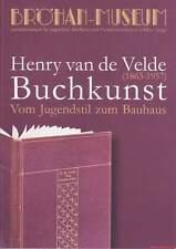 Fachbuch Henry van de Velde, Buchkunst, Kunstgewerbeschule Weimar, Berlin u.a.
