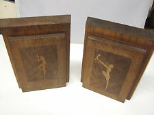 Antique carved bookends Dancers Art Deco